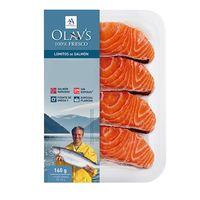 Lomitos de salmón a la plancha OLAV`S, pack 4x40 g