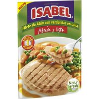 Filete de atún con verduras ISABEL, sobre 180 g