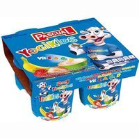 Yogikids de fresa-plátano PASCUAL, pack 4x100 g