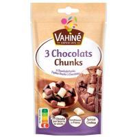 Pepitas Chunks 3 chocolates VAHINÉ, bolsa 100 g