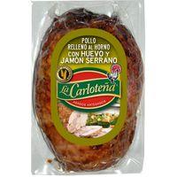 Pollo relleno de j. serrano-huevo LA CARLOTEÑA, 1 unid., 600 g