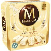 Bombón Mini blanco&blanco Almendrado MAGNUM, pack 6x60 ml