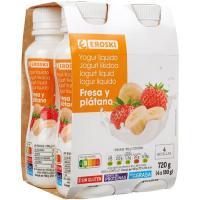 Yogur líquido Bonyourt fresa y plátano