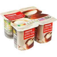 Cuajada natural azucarada EROSKI, pack 4x125 g