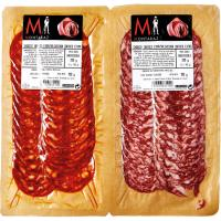 Chorizo-salchichón ibérico extra MONTARAZ, pack 2x100 g