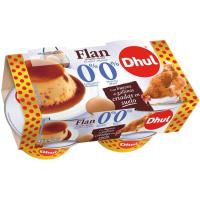 Flan 0% sin azucares añadidos DHUL, pack 4x100 g
