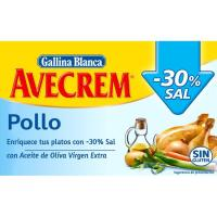 Bajo en sal pollo AVECREM, 18 pastillas, caja 171 g