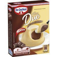 Flan dúo de vainilla-chocolate DR. OETKER, caja 92 g