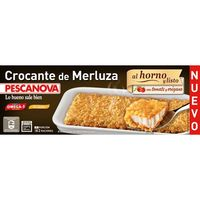 Crocante de merluza con tomate PESCANOVA, caja 370 g