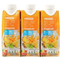 Lactozumo tropical EROSKI, pack 3x330 ml