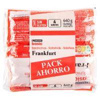 Salchichas Frankfurt EROSKI basic 4X160g