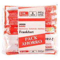 Salchichas Frankfurt EROSKI basic, pack 4x160 g