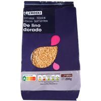 Semillas de lino EROSKI, bolsa 200 g