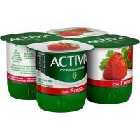 Activia con fresa DANONE, pack 4x125 g