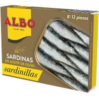 Sardinilla en aceite de oliva ALBO, lata 105 g