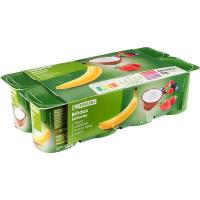 Yogures con bífidus sabor fresa, frutos rojos, coco y plátano