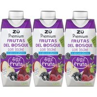 Lactozumo de frutas del bosque ZÜ PREMIUM,  pack 3x330 ml