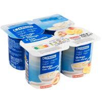 Yogur griego con melocotón-mango EROSKI, pack 4x125 g