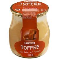 Postre toffe con leche del Pirineo