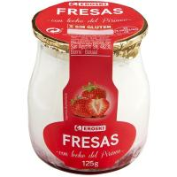 Yogur fresa con leche del Pirineo