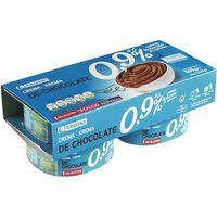 Natillas de chocolate sin azúcar, 0% MG