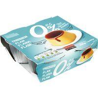 Flan de huevo sin azúcar, 0% MG