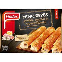 Mini crepes de champiñones-jamón-queso FINDUS, caja 250 g