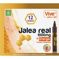 Jalea real adulto en ampollas VIVE+, caja 12 unid.