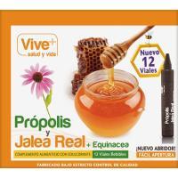 Propolis-jalea real en ampollas VIVE+, caja 12 unid.