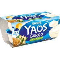 Yogur griego con caña de azúcar NESTLÉ, pack 4x120 g