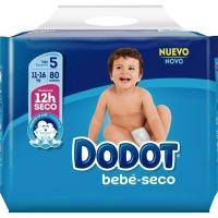Pañal azul 11-17 kg Talla 5 DODOT, paquete 74+6 unid.