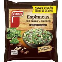 Espinacas con pasas-piñones FINDUS, bolsa 400 g