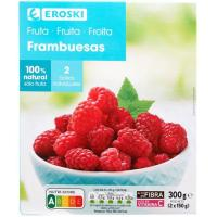 Frambuesas EROSKI, caja 300 g