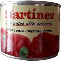 Pimiento morrón entero MARTINEZ, frasco 125 g