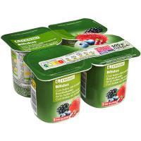 Biactive con frutas del bosque EROSKI, pack 4x125 g
