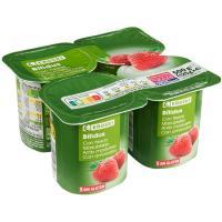 Biactive con fresas EROSKI, pack 4x125 g