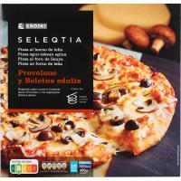 Pizza provolone-boletus Eroski SELEQTIA, 1 unid., 400 g