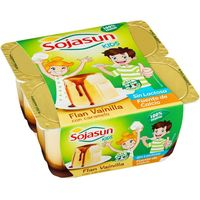 Flan de vainilla SOJASUN, pack 4x100 g