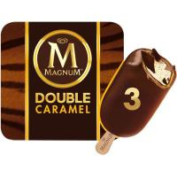 Bombón Double de caramelo MAGNUM, pack 3x88 ml