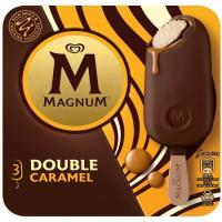 Bombón Double de caramelo MAGNUM, pack 3x88 ml
