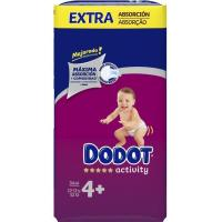 Pañal 10-15 kg Talla 4 DODOT Activity Extra, paquete 52 unid.