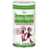 Colágeno-magnesio-ácido hialurónico VIVE+, lata 200 g