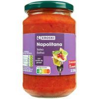 Salsa napolitana EROSKI, frasco 350 g