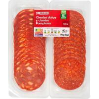 Chorizo dulce--Pamplona EROSKI, pack 2x90 g