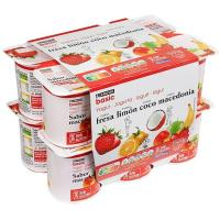 Yogur surtido sabores fresa, limón, coco y macedonia