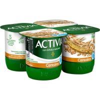 Activia de cereal 0% DANONE, pack 4x120 g