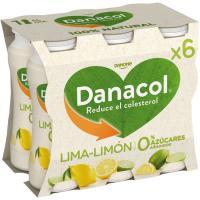 Danacol para beber de lima-limón DANONE, pack 6x100 g
