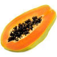 Papaya canaria partida, pieza al peso aprox. 500 g