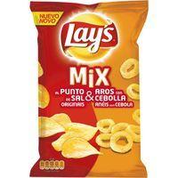 Patatas fritas-Aros de cebolla LAY`S Mix Onion Ring, bolsa 170 g