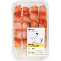Pincho rojo de pollo EROSKI, bandeja 360 g
